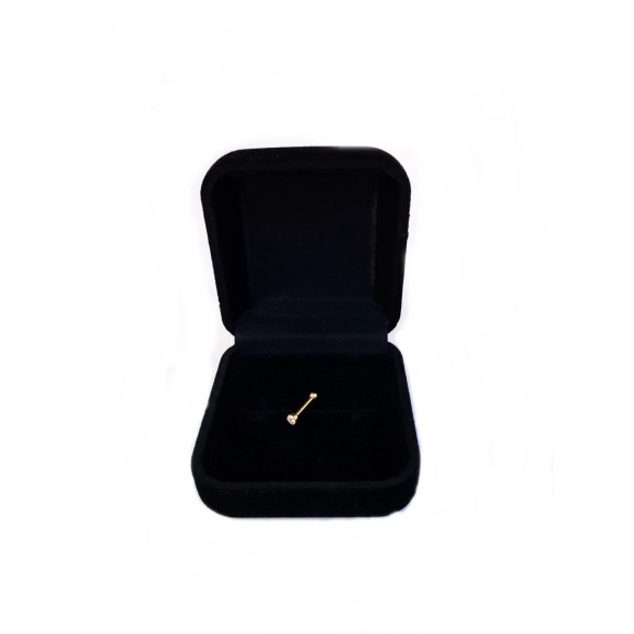 Piercing  Straight With Large Stone em Ouro 18K
